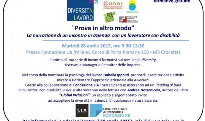 Invito al seminario Diversitàlavoro