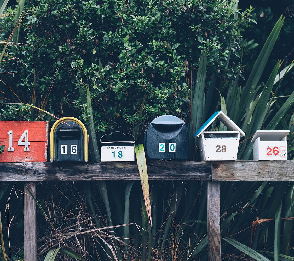 Fotografia di cassette della posta