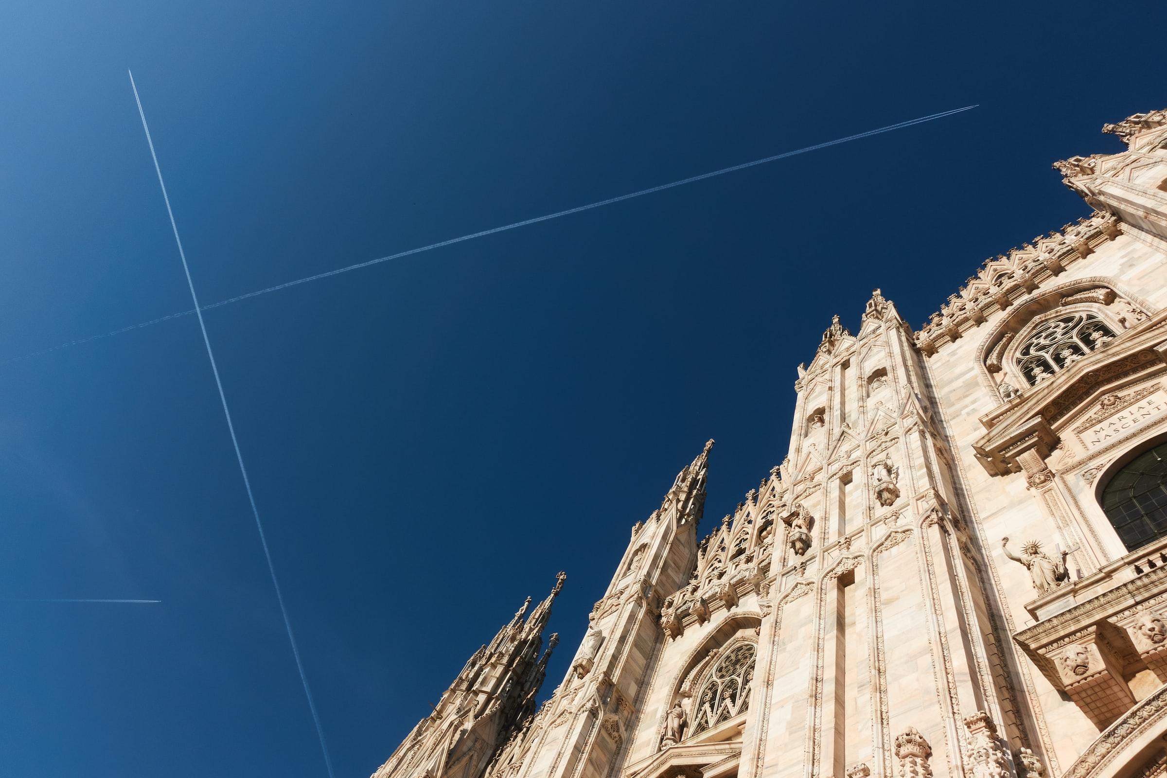 Fotografia di uno scorcio del Duomo di Milano