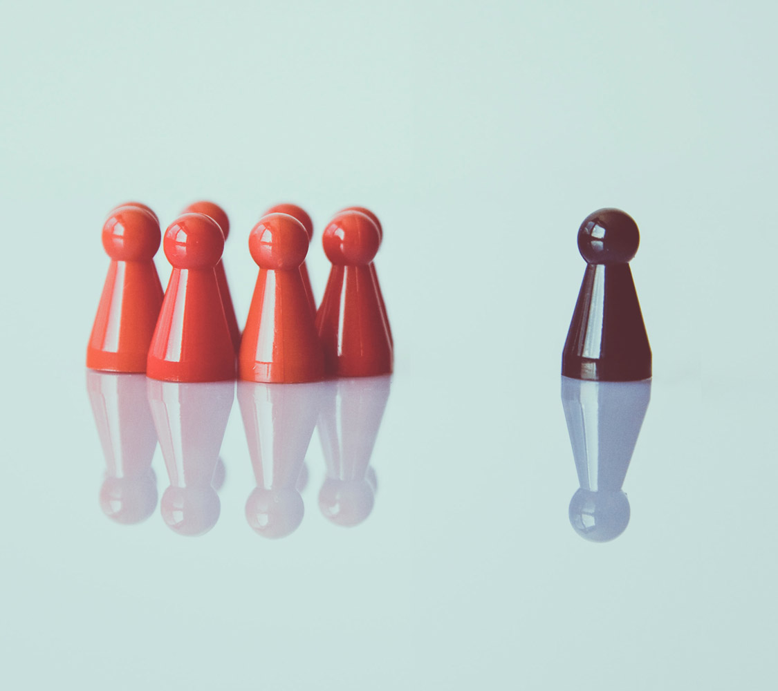 Photo of a group of pawns