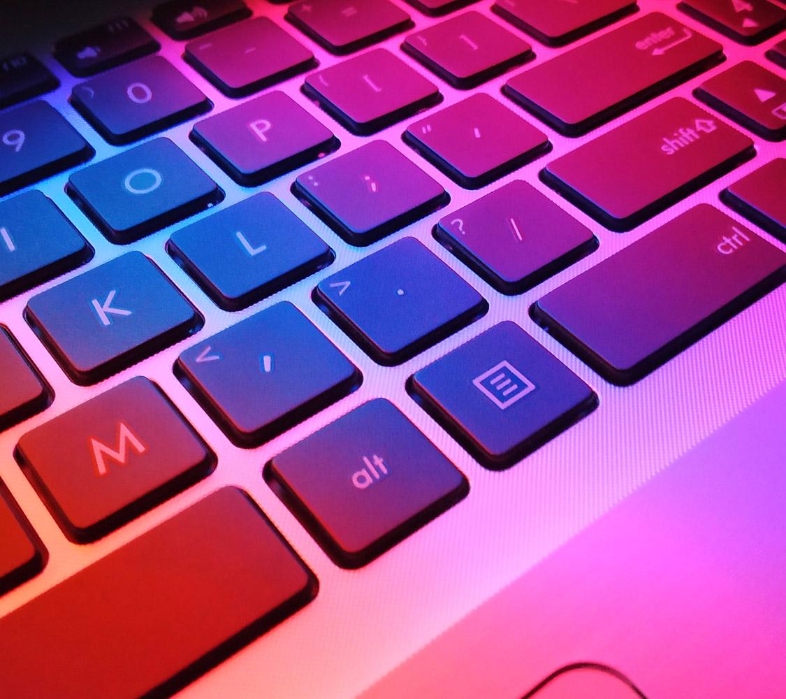 Photo of a laptop keyboard