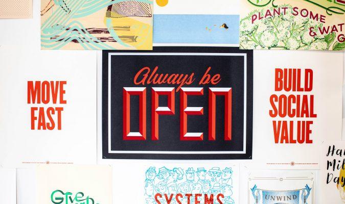 "Sign ""always be open"""