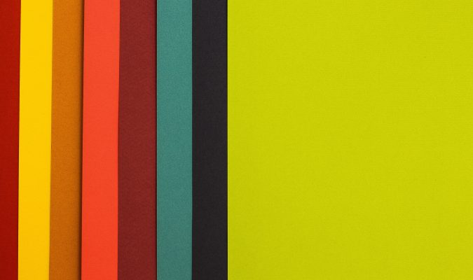 Photography of colored papers