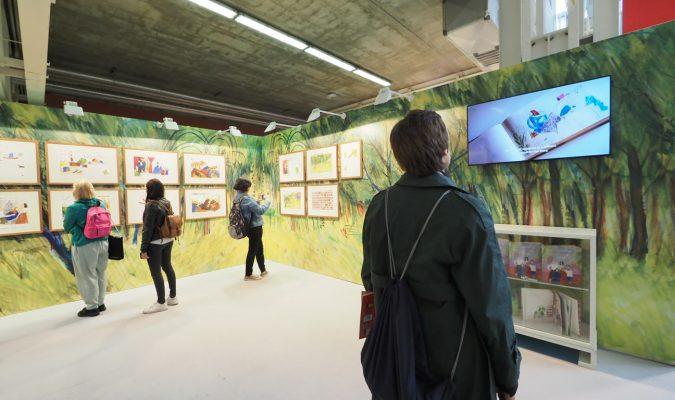 Fotografia di una mostra durante la Bologna Book Fair