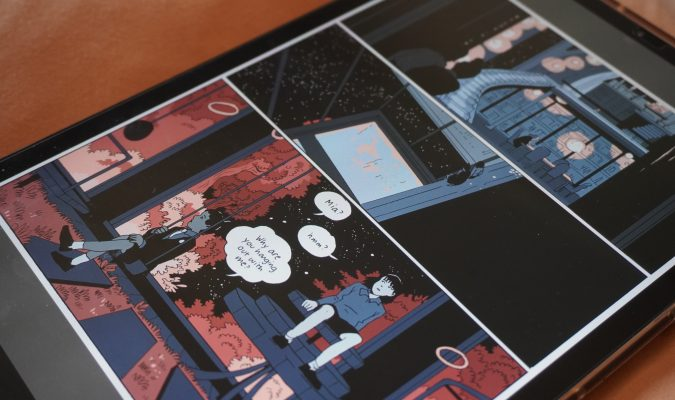 Photography of a digital comic