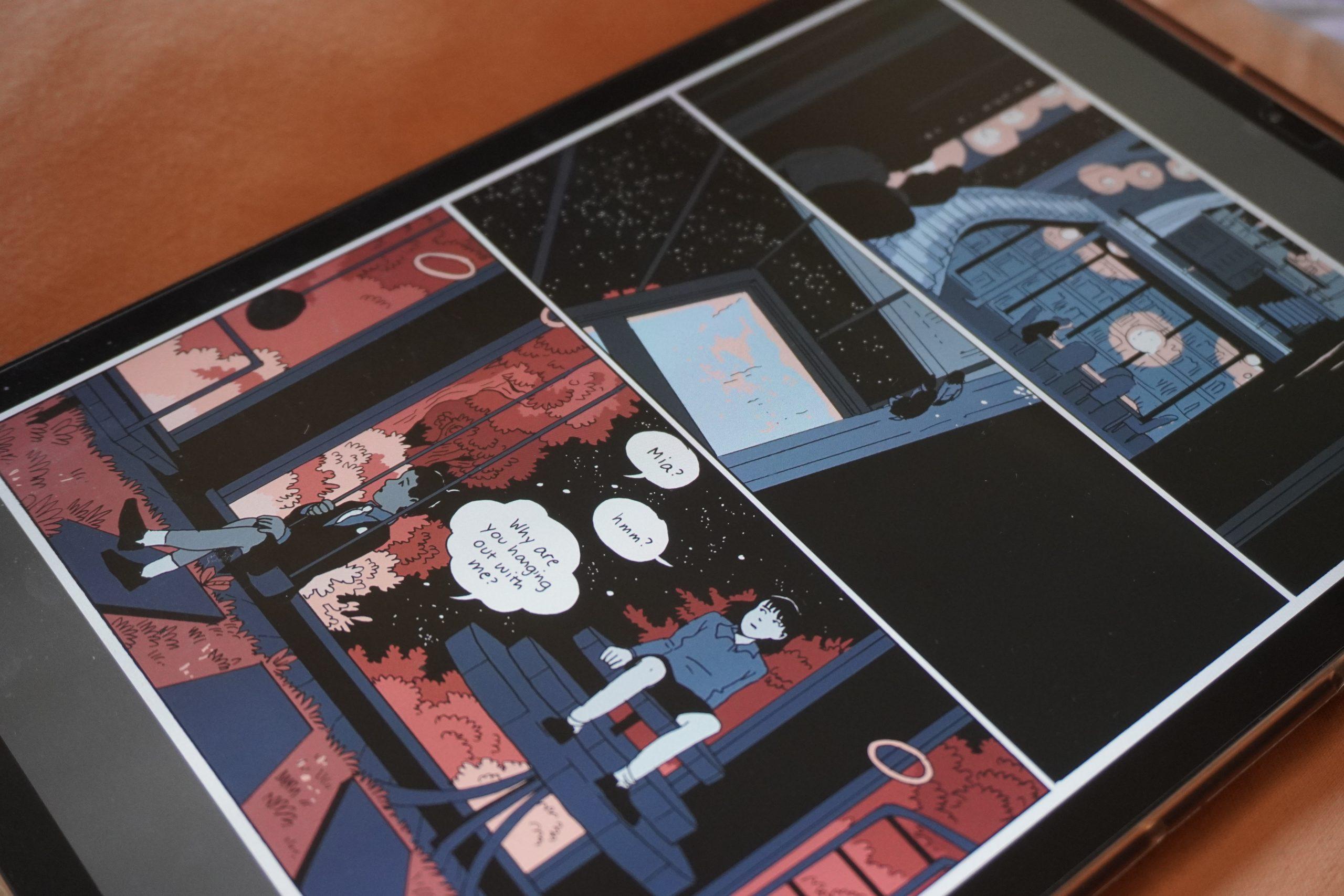 Fotografia di un fumetto digitale