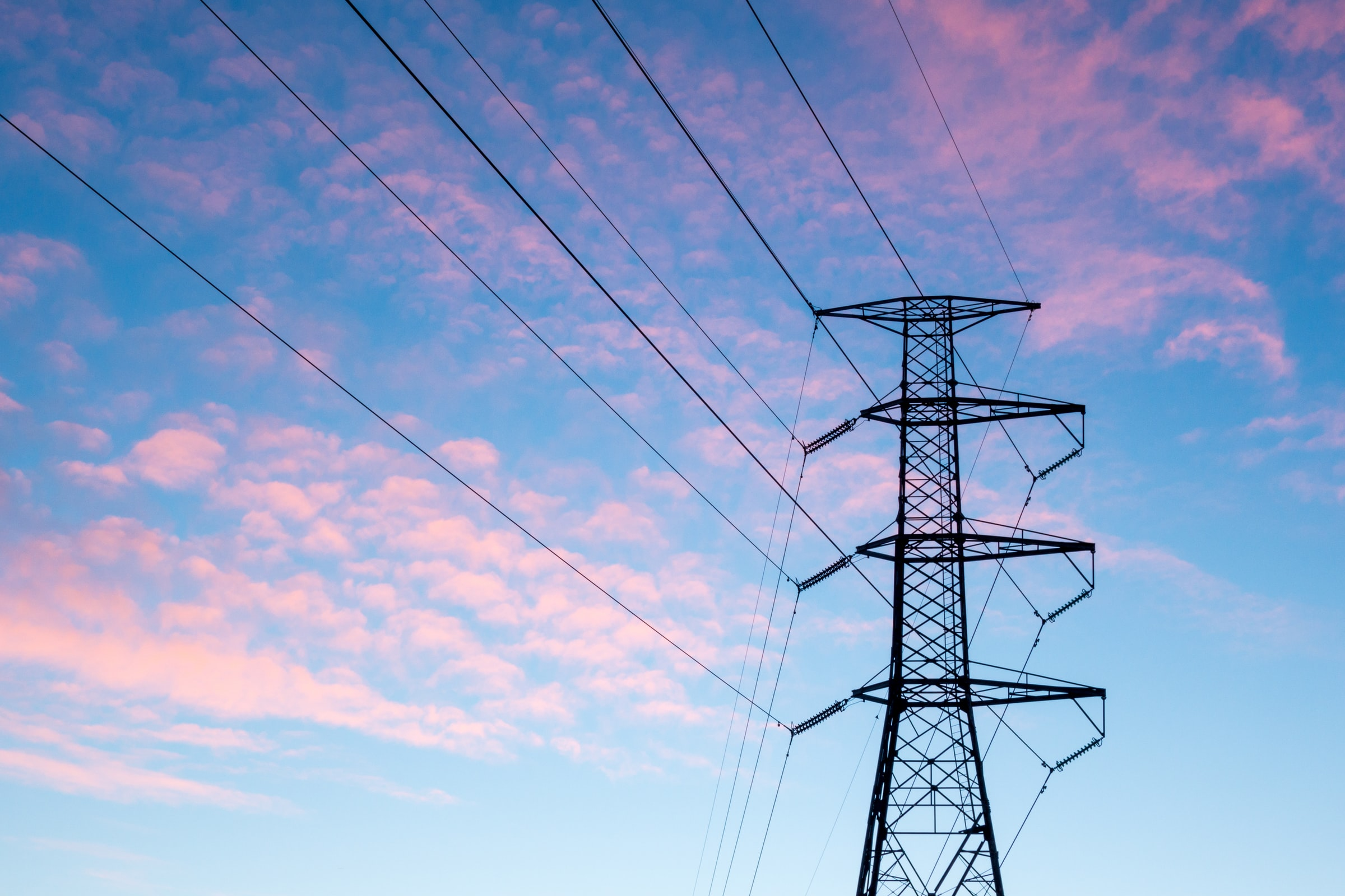 Photo of an electrical transmission tower
