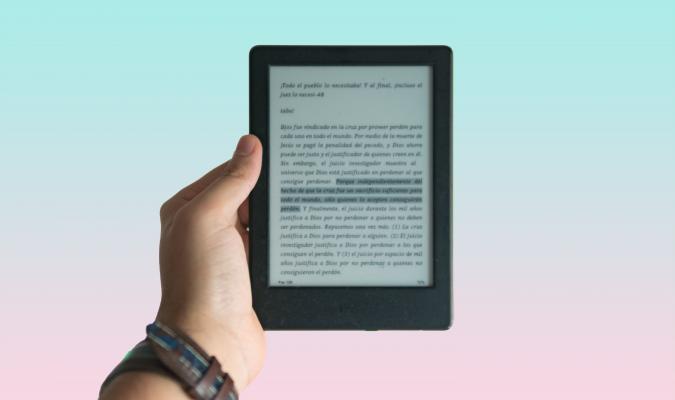 Photograph of an e-reader