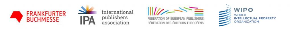 Logos of Frankfurter Buchmesse, IPA, FEP and WIPO